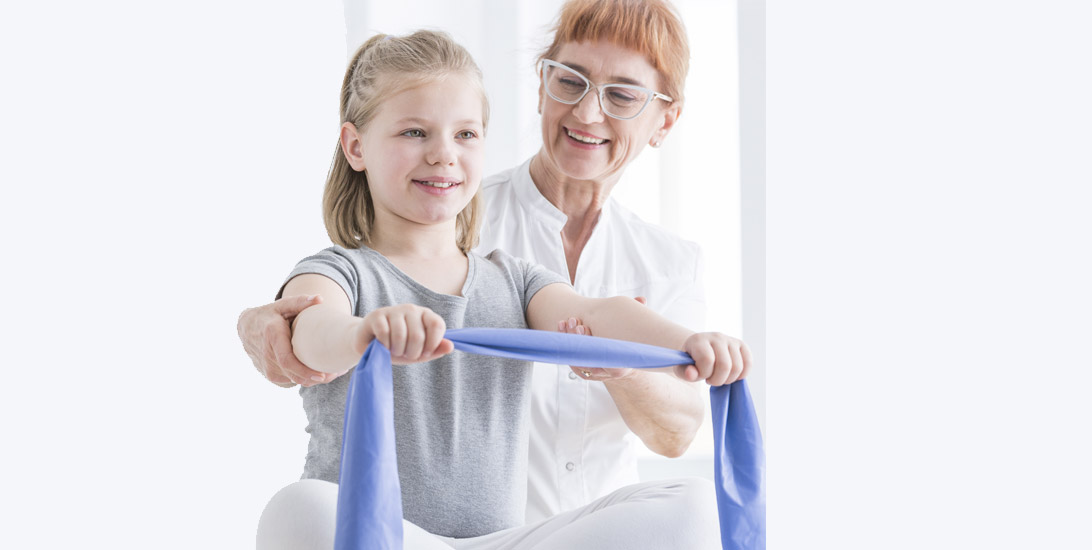 Occupational therapy session with young girl